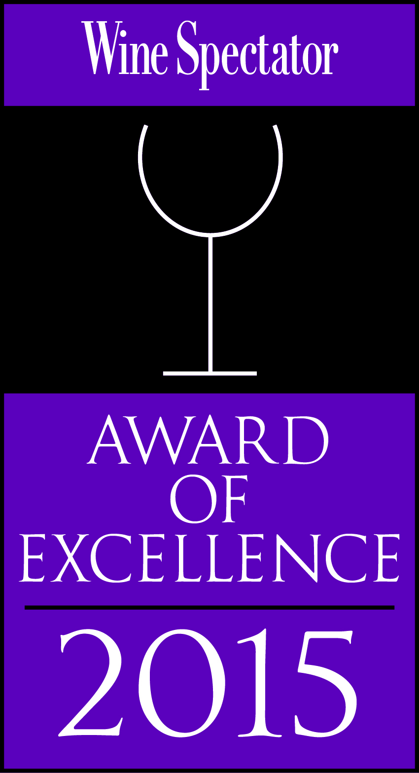 Wine Spectator Award of Excellence 2015